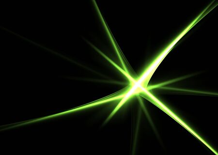 Green abstract shapes on a black background- beautiful 3D rendered fractal. Stock Photo - 4622205