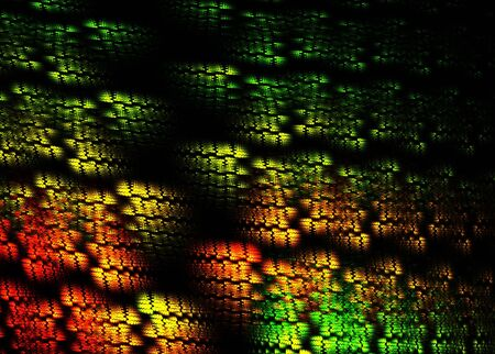 3D rendered fractal, snake skin abstract background. photo
