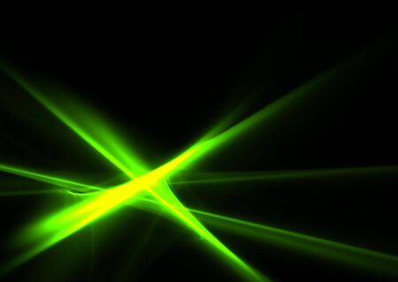 Flames of green on black background- beautiful 3D rendered fractal. Stock Photo - 5315391