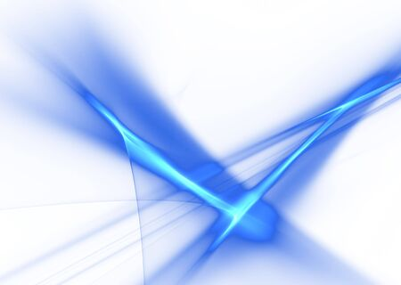 Blue abstract flames on white background- 3D rendered fractal.