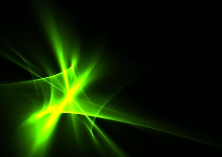 Green flames on black background- beautiful 3D rendered fractal. Stock Photo - 5714412