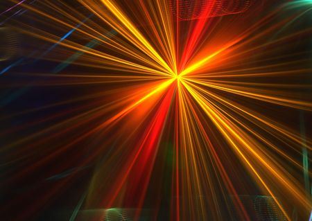 diffused: Diffused rays on black: beautiful 3D rendered fractal. Stock Photo