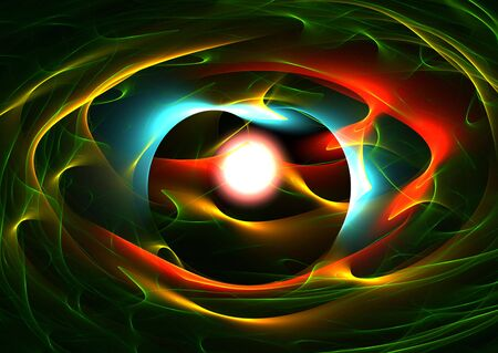 The Eye: beautiful 3D rendered abstract colorful fractal.
