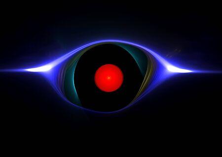 hypnotique: The Evil Eye: beau rendu 3D fractales multicolores abstraites. Banque d'images