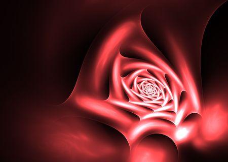 inmejorablemente: La rosa de la pasi�n: la ilustraci�n hermosa rosa roja, idealmente como tel�n de fondo de San Valent�n.