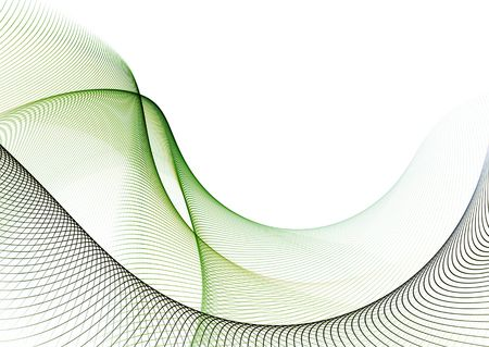 Elegant wavy patterns on white background: 3D rendered fractal.