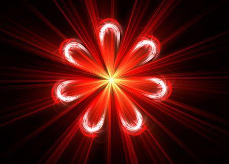 Beautiful flower fractal isolated on black- 3D rendered illustration. illustration