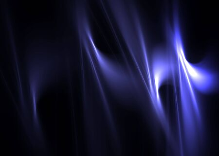 Blue abstract flames on a black background-3D rendered fractal. Stock Photo - 5707708