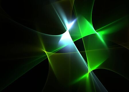 Abstract flames on a black background-beautiful 3D rendered fractal. Stock Photo - 5751083