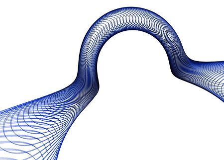velvet ribbon: Futuristic design: blue abstract ribbon on white-with copy-paste for your text.