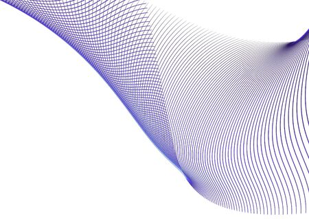 velvet ribbon: Blue wavy patterns on white.