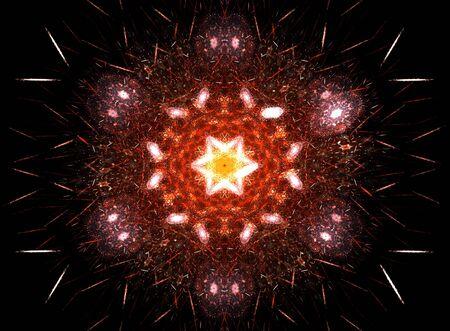 Flower fractal in beautiful colors: 3D rendered illustration. illustration