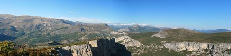 The Alpes in Provence - beautiful panoramic view in summer.