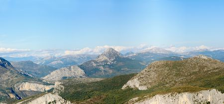 Alpes: Panorama view of the Alpes in Provence. Stock Photo