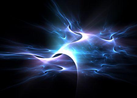 blue velvet: Electric blue patterns over black: beautiful 3D rendered fractal.