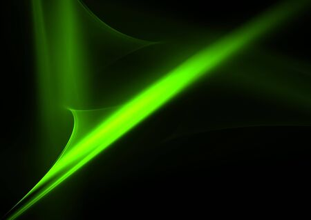 Green flames over black: abstract 3D rendered fractal. Stock Photo - 6455795