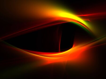 evil eyes: Mystic Eye: beautiful 3D rendered abstract fractal. Stock Photo