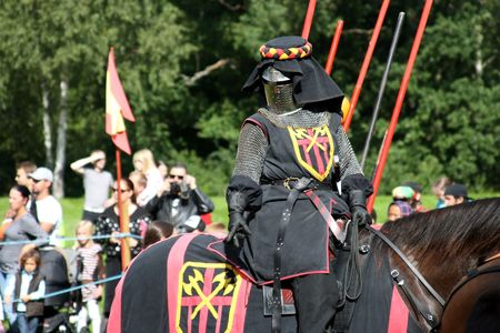 """Scene from Nordic Knights Tournament """"Rissnespelen""""- Stockholm (Sweden), 28th of August, 2010. Stock Photo - 7665364"""