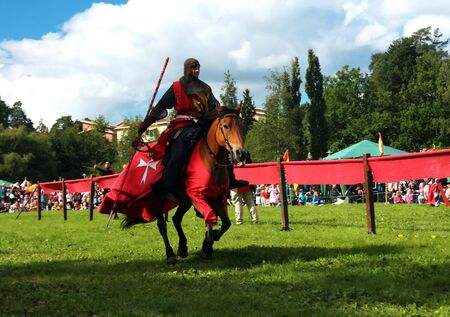 """Scene from Nordic Knights Tournament """"Rissnespelen""""- Stockholm (Sweden), 28th of August, 2010. Stock Photo - 7737645"""
