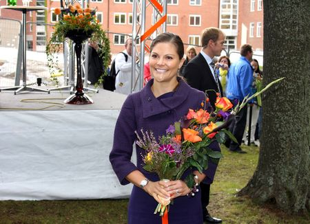 STOCKHOLM, SWEDEN- SEPTEMBER 3: Her Royal Highness Crown Princess Victoria at the ground-breaking ceremony for Sweden's new university hospital, New Karolinska Solna-Stockholm (Sweden), 3rd of September, 2010. Editorial