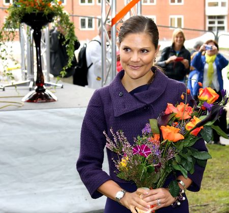 STOCKHOLM, SWEDEN- SEPTEMBER 3: Her Royal Highness Crown Princess Victoria at the ground-breaking ceremony for Sweden's new university hospital, New Karolinska Solna-Stockholm (Sweden), 3rd of September, 2010. Stock Photo - 7737675