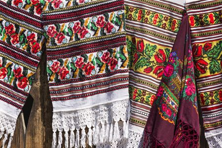 rugs: Traditional Romanian rugs Stock Photo
