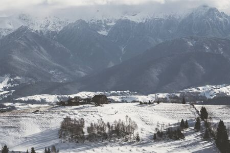 Landscape in the Rucar-Bran area, Romania