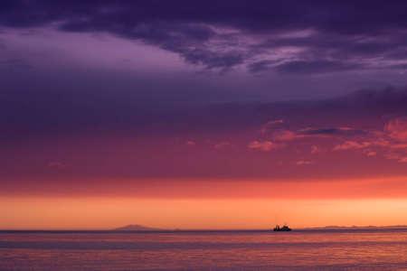 Sunset over the snaefeljokull photo