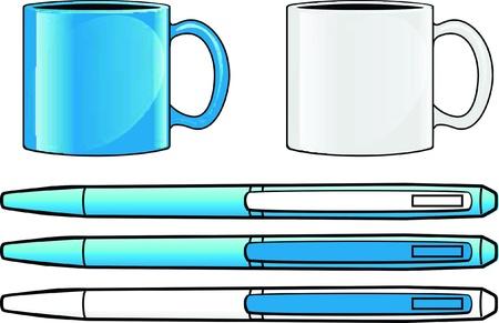 ball pen: mug and ball pen