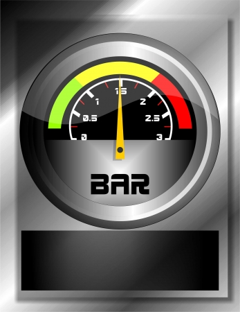 mecanic: pressure gauge Illustration