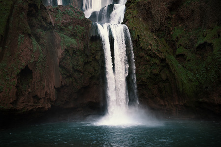 Beautiful waterfalls called - Ouzoud in Morocco. Ouzoud Falls in Africa. Landscape
