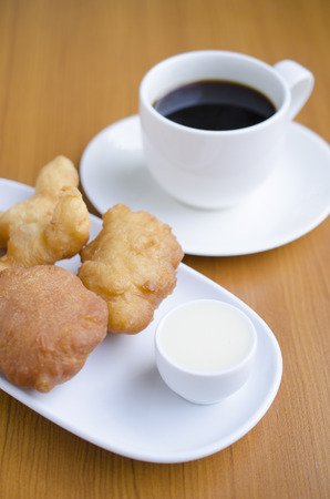 patongkoh: soft focus Deep-fried dough stick breakfast or snack of the chinese people