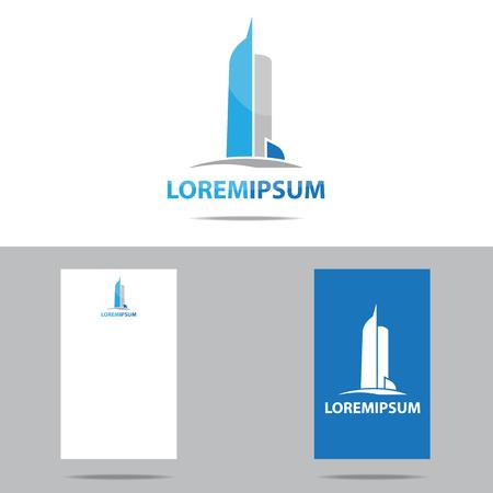 logotipo de construccion: Inmobiliaria logo vector plantilla de diseño Foto de archivo