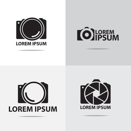 macchina fotografica: quattro diversi fotocamera digitale logo design