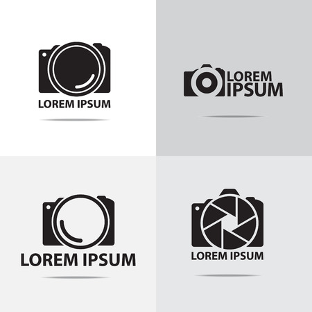vier verschillende digitale camera logo-ontwerp