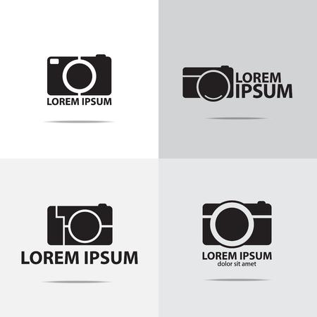 compact camera: four different digital compact camera logo design