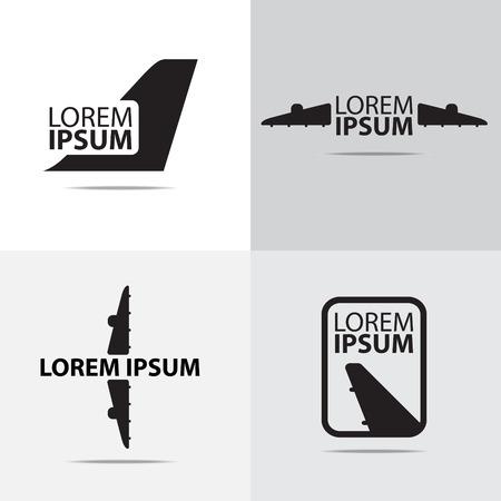 aereo: quattro aereo aria logo design diverso