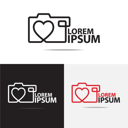 Amar cámara digital diseño del logotipo Foto de archivo - 44868424