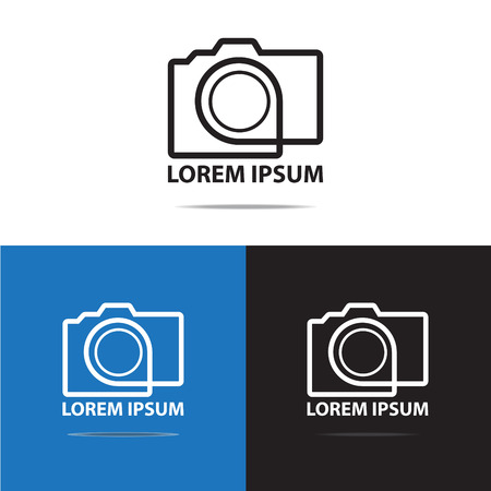 photography logo: contour line digital camera logo design