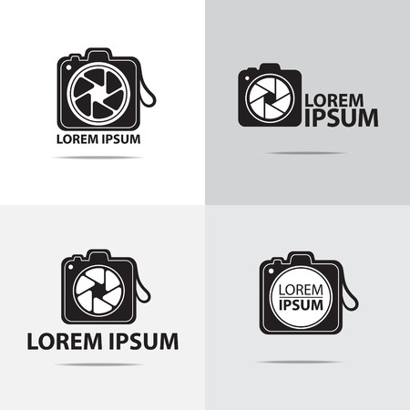 digital camera: four different digital camera logo design