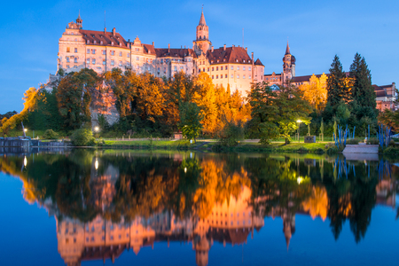 princely: Sigmaringen, Germany - October 2, 2013: Sigmaringen Castle which the princely castle and seat of government for the Princes of Hohenzollern Editorial