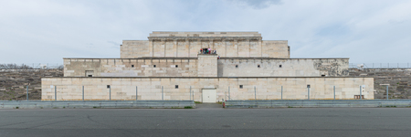 Nurnberg, Germany - April 4, 2014: Panorama of the Main Tribune of the Zeppelinfeld in Nurnberg, used by the Nazi party Standard-Bild - 115969028