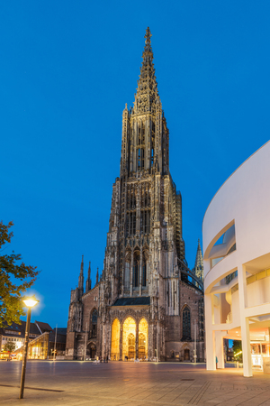 Ulm, Germany - Minster, with 161.5 metres tallest church in the world.