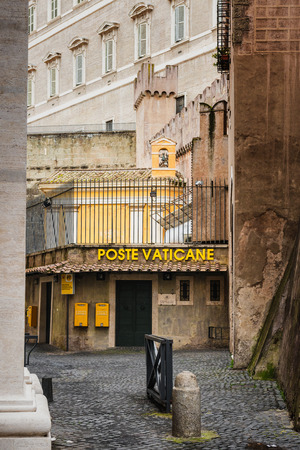 Vatican, Italy - February 25, 2015: View of the offical Vatican Post Office Editorial