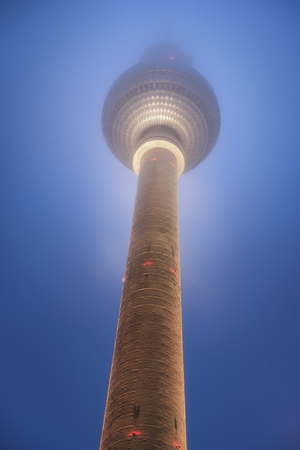 Berlin TV Tower at Night, Germany