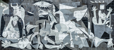 Tile Reproduction of Picassos Guernica Painting, Guernica - Spain