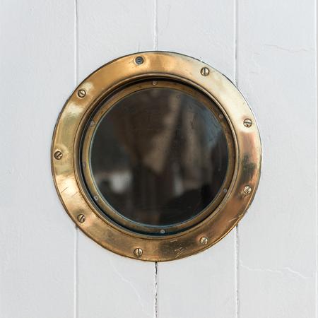 Old Porthole Stockfoto