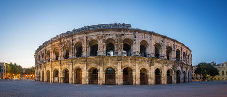 Evening view of Nîmes Arena - France Standard-Bild