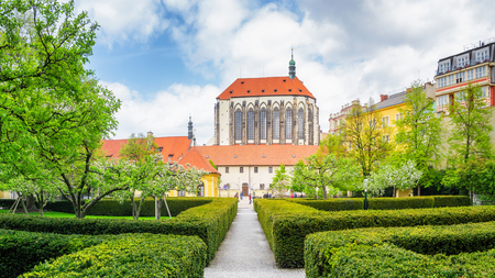 Franciscan Gardens in Prague at a sunny spring day Stock Photo
