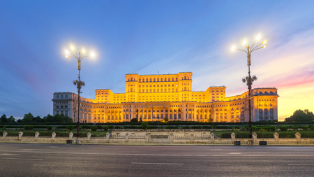 The Palace of the Parliament, Bucharest, Romania. Stock Photo